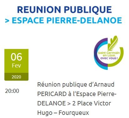 """""""Réunion publique d'Arnaud Péricard"""" @ Espace Pierre Delanoë"""